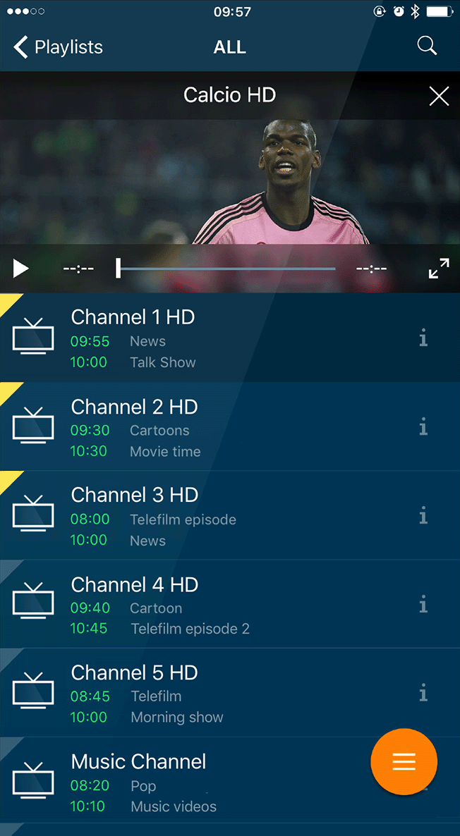rIPTV the IPTV app for Apple TV, iPhone, iPad and Android